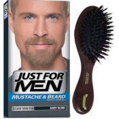 Just For Men Homme - PACK COLORATION BARBE BLONDE ET BROSSE À BARBE - Coloration Cheveux/ Barbe