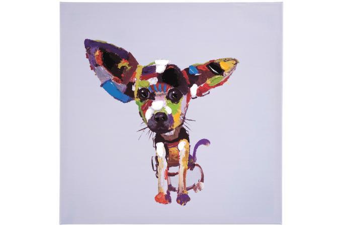 Peinture multicolore en toile steffi tableau animaux pas - Peinture sur toile design ...