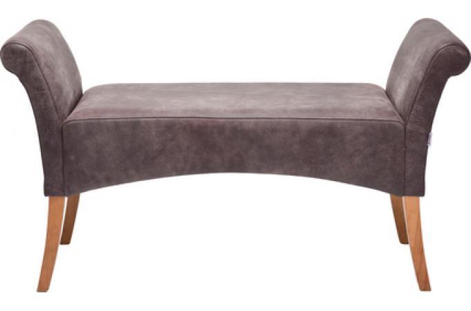 banc marron en cuir de vachette sylvia banquette. Black Bedroom Furniture Sets. Home Design Ideas
