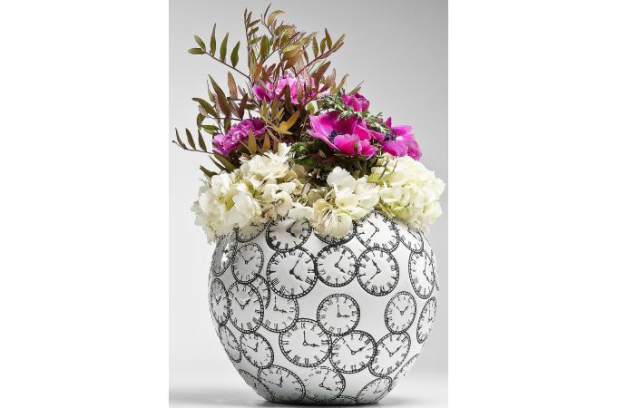 vase blanc kare design en c ramique silke vase pas cher. Black Bedroom Furniture Sets. Home Design Ideas
