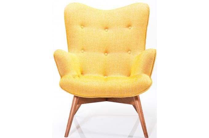 fauteuil jaune en viscose reiko fauteuil design pas cher. Black Bedroom Furniture Sets. Home Design Ideas