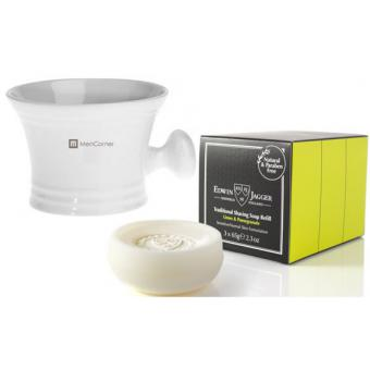 Mencorner.Com - PACK RECHARGES SAVON A RASER & GRAND BOL A RASER BLANC - Promotions
