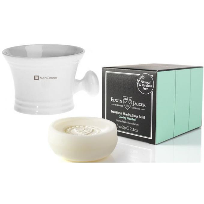 Pack recharges savon a raser grand bol a raser blanc menthol mencorner com gel mousse - Raser a blanc ...