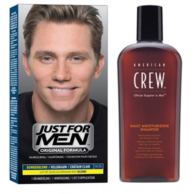Coloration cheveux shampoing ch tain clair pack just for men coloration cheveux barbe homme - Coloration blond homme ...