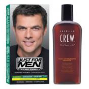 Just For Men - COLORATION CHEVEUX & SHAMPOING Châtain Foncé - Coloration homme chatain fonce