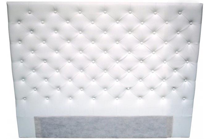 T te de lit 160 imitation cuir blanc t te de lit pas cher - Tete de lit cuir blanc 160 ...