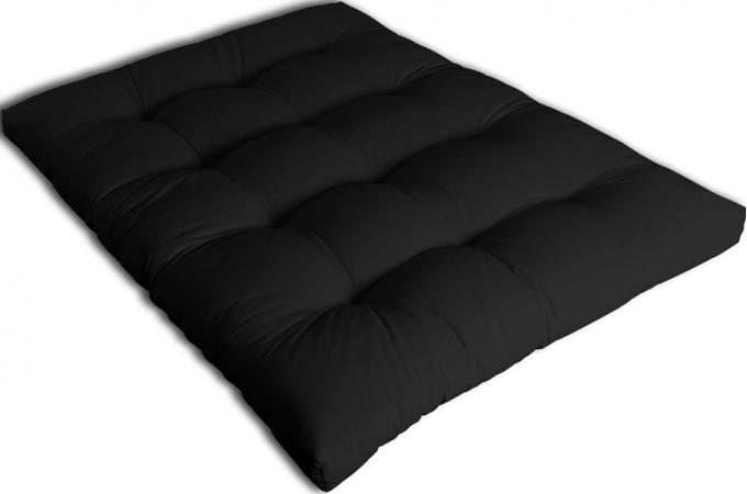 matelas futon 140 cm noir 100 coton matelas pas cher. Black Bedroom Furniture Sets. Home Design Ideas