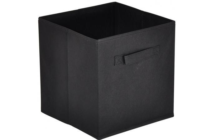 panier tiroir tissu noir lot de 10 bac de rangement pas cher. Black Bedroom Furniture Sets. Home Design Ideas