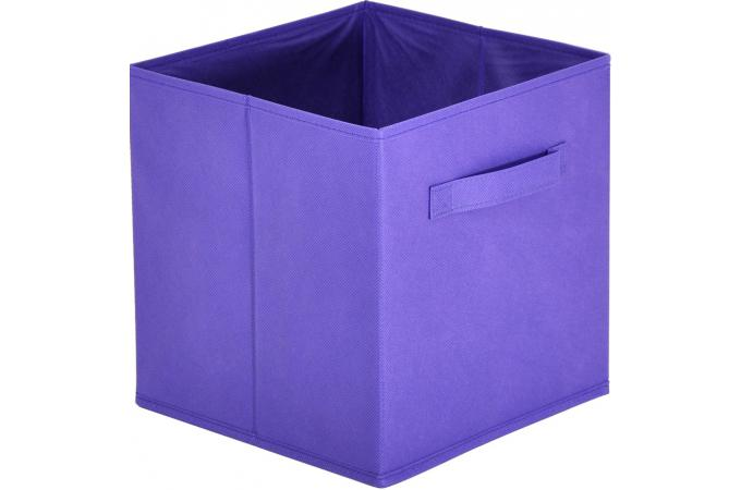 panier tiroir tissu violet lot de 10 bac de rangement. Black Bedroom Furniture Sets. Home Design Ideas