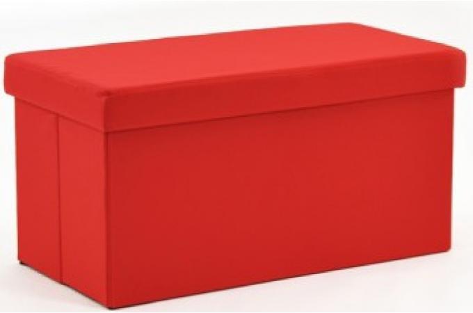 pouf coffre pliant rectangulaire tissu rouge pouf design pouf g ant pas cher. Black Bedroom Furniture Sets. Home Design Ideas