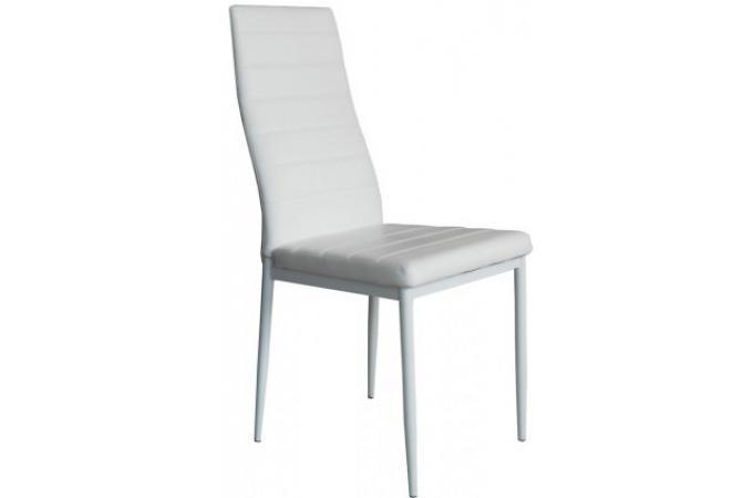 lot de 4 chaises en simili cuir blanches lolly. Black Bedroom Furniture Sets. Home Design Ideas