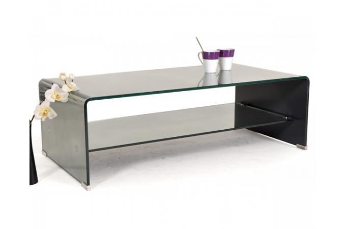 table basse rectangulaire verre miroir tremp avec. Black Bedroom Furniture Sets. Home Design Ideas