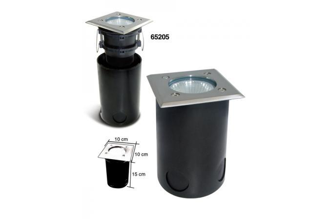 spot carr halog ne 20w boitier d 39 encastrement luminaire ext rieur pas cher. Black Bedroom Furniture Sets. Home Design Ideas