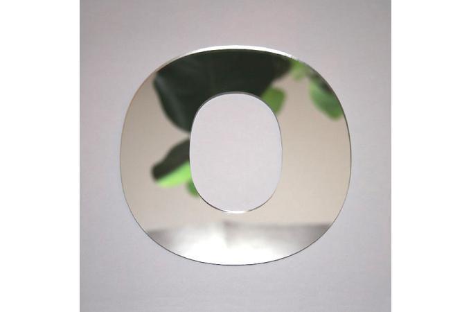 Miroir o argent en verre teri h 8 cm miroir rond et for Miroir argente pas cher