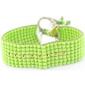 Bracelet Vert Raffiné Tendance - L by L'Avare - Argent