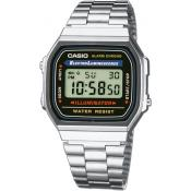 Casio - Montre Casio Retro Vintage A168WA-1YES - Montre homme rectangulaire
