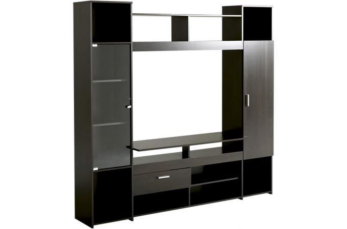 Meuble tv en imitation bois marron tag re maya design for Imitation meuble design