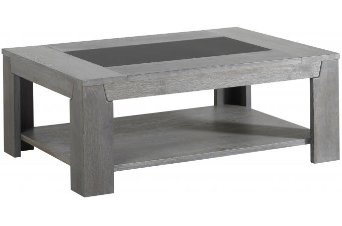 Table basse ch ne gris plaqu bois sidney table basse for Table basse en bois pas cher
