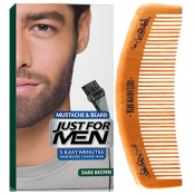 Just For Men - PACK COLORATION BARBE ET PEIGNE BARBIER Châtain Foncé - Entretenir sa barbe