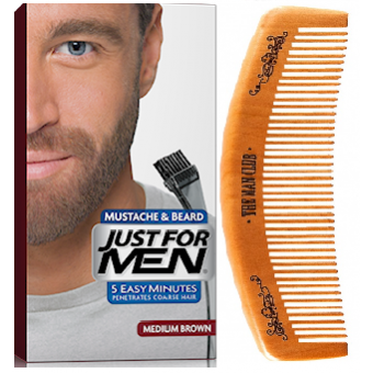 Just For Men - PACK COLORATION BARBE ET PEIGNE BARBIER Châtain - Coloration just for men