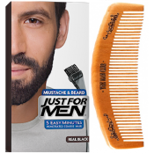 Just For Men - PACK COLORATION BARBE ET PEIGNE BARBIER Noir Naturel - Entretenir sa barbe