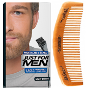 Just For Men - PACK COLORATION BARBE ET PEIGNE BARBIER Châtain Clair - Entretenir sa barbe
