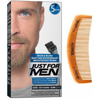 PACK COLORATION BARBE ET PEIGNE DE BARBIER Blond Just For Men