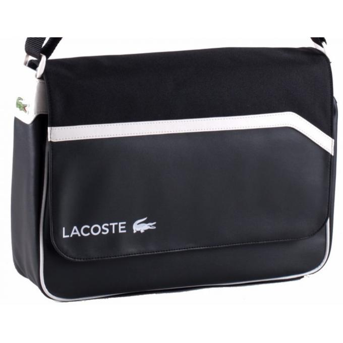 sac messenger casual sport lacoste sac homme. Black Bedroom Furniture Sets. Home Design Ideas