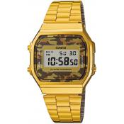 Casio - Montre Casio Retro Vintage A168WEGC-5EF - Montre homme rectangulaire
