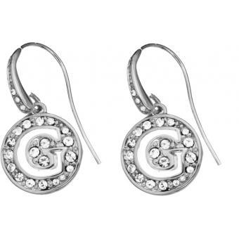 Boucles d'oreilles Brillantes -  Métal Argent Guess bijoux - Guess