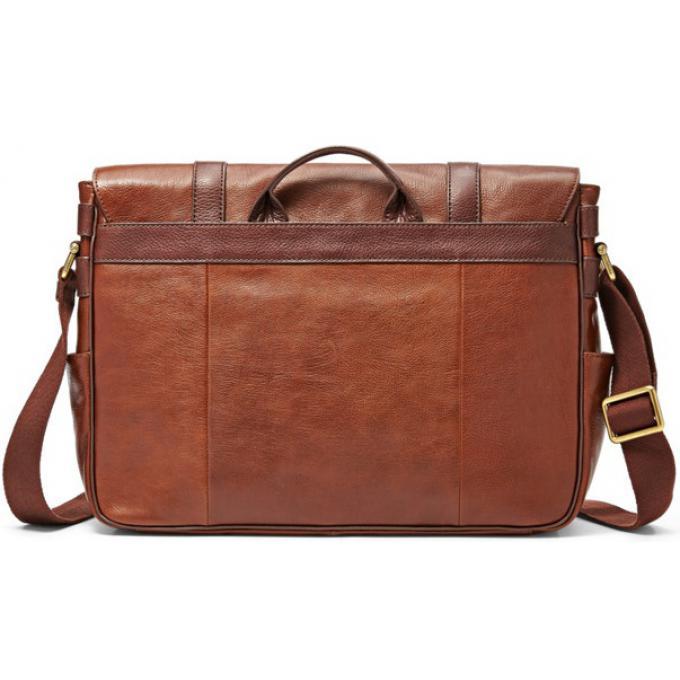 sac messenger estate cuir marron homme fossil sac. Black Bedroom Furniture Sets. Home Design Ideas