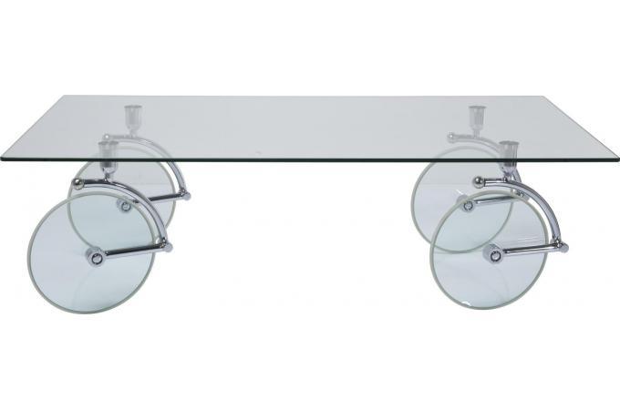 Table Basse Kare Design En Verre Roues Table Basse Pas Cher