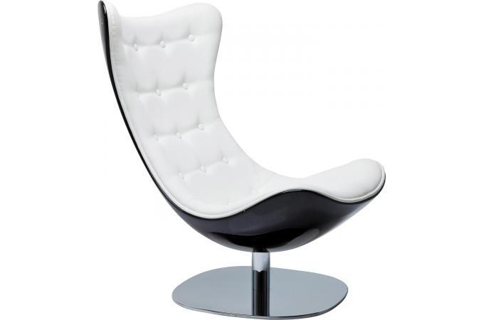 Fauteuil kare design atrio deluxe noire et blanche fauteuil design pas cher for Fauteuil confortable design