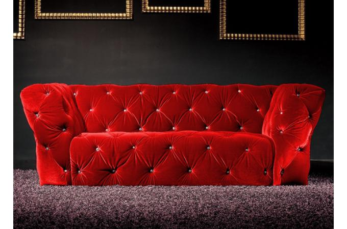 canap 3 places kingdom rouge canap chesterfield pas cher. Black Bedroom Furniture Sets. Home Design Ideas