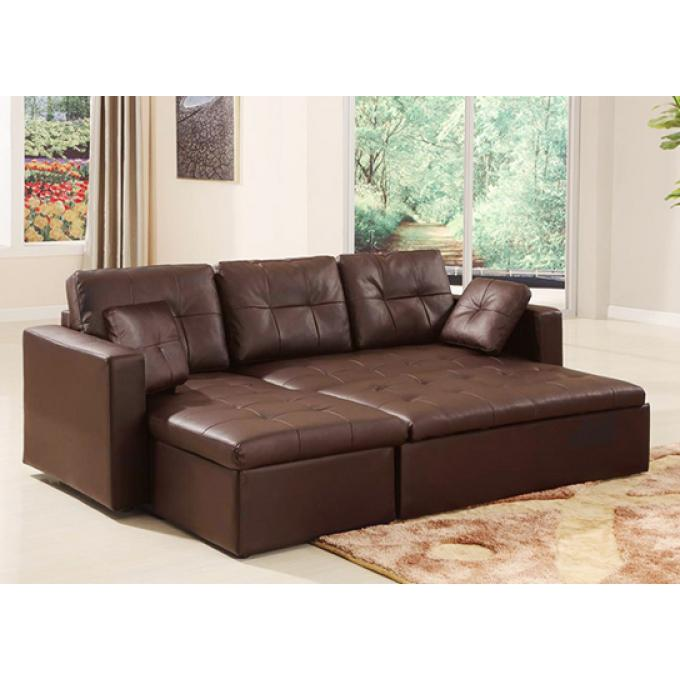 canap d 39 angle convertible marron dallas canap chesterfield pas cher. Black Bedroom Furniture Sets. Home Design Ideas