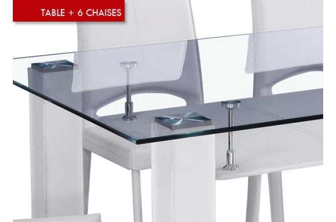 Table manger 6 chaises ernest table manger pas cher for Table a manger 6 chaises pas cher