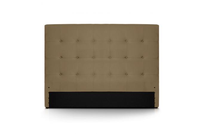 t te de lit 160 taupe en imitation cuir yaren t te de lit pas cher. Black Bedroom Furniture Sets. Home Design Ideas