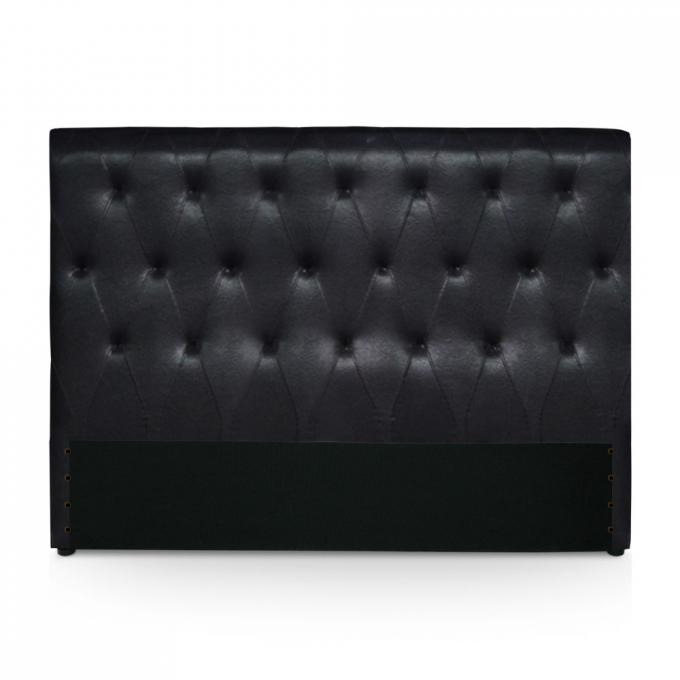 t te de lit 160 noire en imitation cuir washington t te de lit pas cher. Black Bedroom Furniture Sets. Home Design Ideas