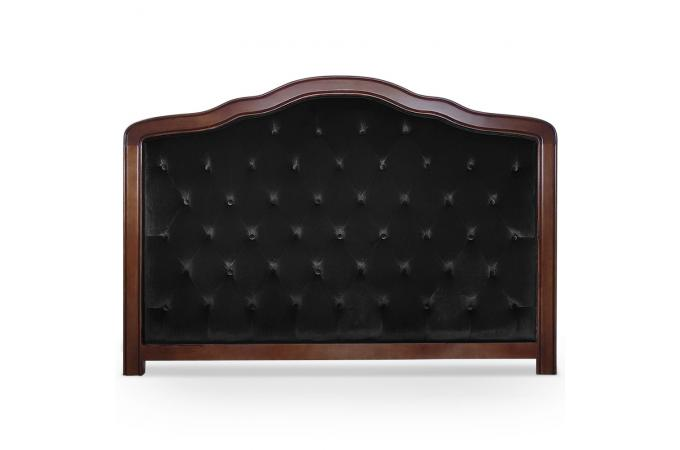 t te de lit 180 noire en bois san salvador t te de lit. Black Bedroom Furniture Sets. Home Design Ideas