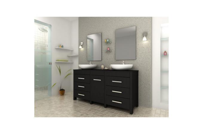 Meuble de salle de bain marron fonc en bois achim meuble salle de bain pas cher - Meuble de salle de bain marron ...