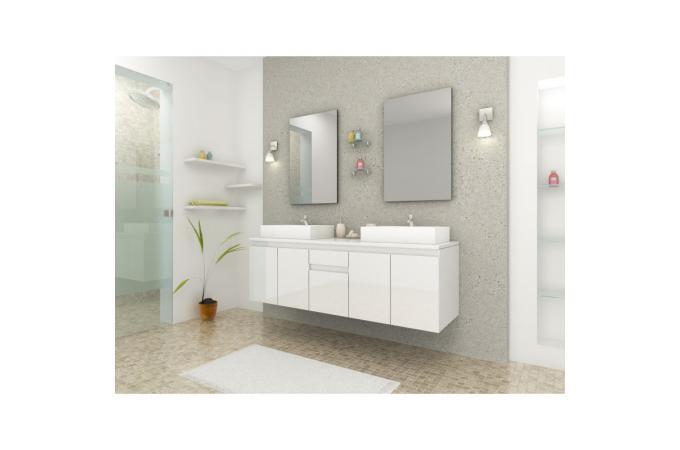 Ensemble salle de bain blanc adon deco design for Ensemble salle de bain blanc