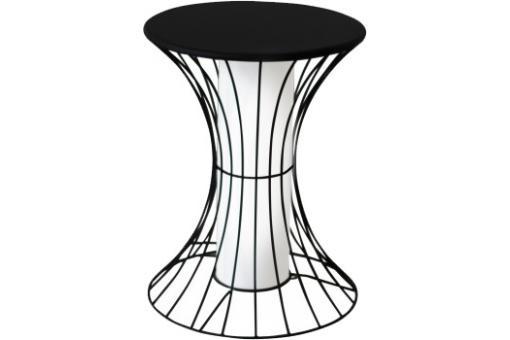 bout de canap lumineux noir en m tal betti table basse. Black Bedroom Furniture Sets. Home Design Ideas