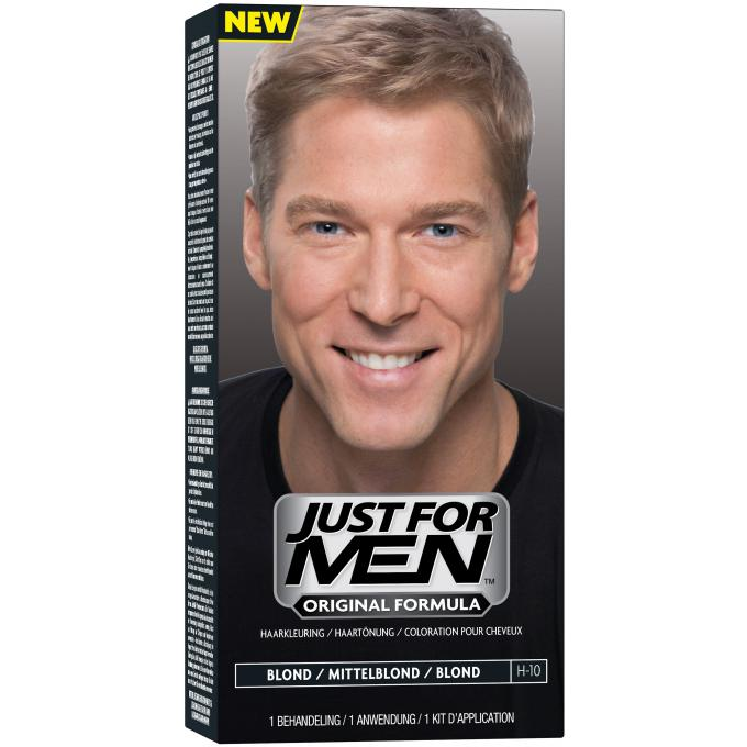 Coloration cheveux homme blond just for men coloration cheveux barbe homme - Blond platine homme ...
