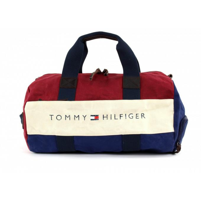 sac sport lance toile tommy hilfiger maroquinerie sac homme. Black Bedroom Furniture Sets. Home Design Ideas