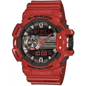 Montre Casio G-Shock GBA-400-4AER - Montre Rouge Multifonction GMix Homme