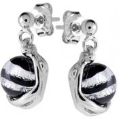 Boucles d'oreilles Argent Perles Noires - Jourdan - Noir