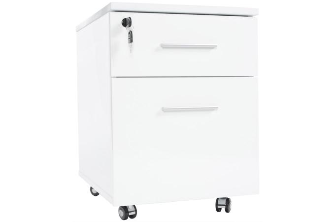 colonne blanche en bois ryan accessoire caisson bureau pas cher. Black Bedroom Furniture Sets. Home Design Ideas
