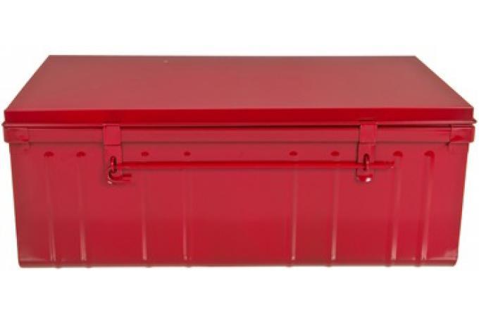 malle de rangement m tal 100x55 cm rouge bo te de rangement pas cher. Black Bedroom Furniture Sets. Home Design Ideas
