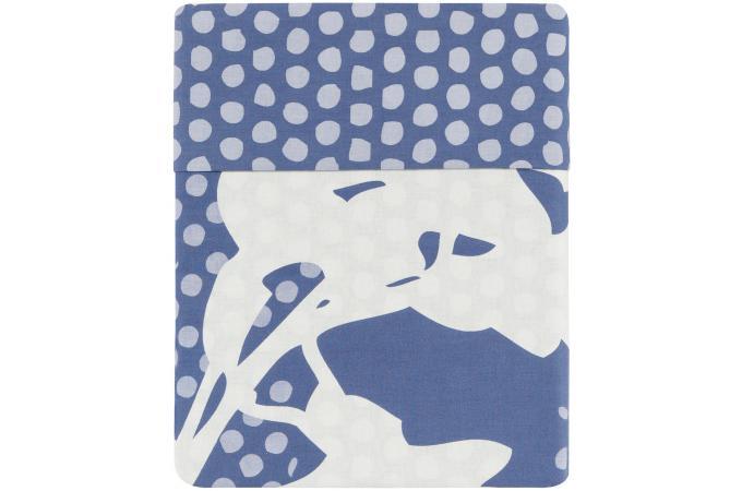 housse de couette bleue coton imprim 220x240 cm sherwood housse de couette pas cher. Black Bedroom Furniture Sets. Home Design Ideas