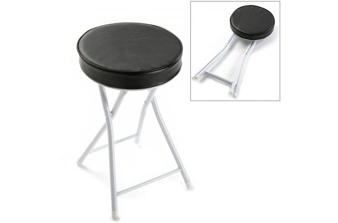 tabouret bain rembourr pliable noir petit tabouret pas cher. Black Bedroom Furniture Sets. Home Design Ideas
